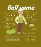 Διανυσματική απεικόνιση γκολφ Στοκ εικόνες με δικαίωμα ελεύθερης χρήσης
