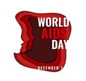 Διανυσματική απεικόνιση εγγράφου για την ημέρα του AIDS διανυσματική απεικόνιση