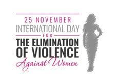 Διανυσματική απεικόνιση εγγράφου για τη διεθνή ημέρα για την αποβολή της βίας κατά των γυναικών διανυσματική απεικόνιση
