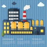 Διανυσματική απεικόνιση εγκαταστάσεων και εργοστασίων Στοκ Εικόνες