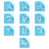 Διανυσματική απεικόνιση εικονιδίων αριθμών συμβόλων σημαδιών υπολογιστών Γραφείο, οικονομία απεικόνιση αποθεμάτων