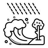 Διανυσματική απεικόνιση εικονιδίων τσουνάμι κυμάτων διανυσματική απεικόνιση