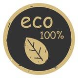 Διανυσματική απεικόνιση εικονιδίων eco φύλλων που απομονώνεται στο γκρίζο υπόβαθρο απεικόνιση αποθεμάτων