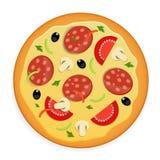 Διανυσματική απεικόνιση εικονιδίων πιτσών. Στοκ Εικόνες