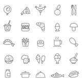 Διανυσματική απεικόνιση εικονιδίων τροφίμων Στοκ Εικόνες