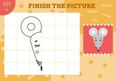 Διανυσματική απεικόνιση εικόνων αντιγράφων Πλήρες και χρωματίζοντας παιχνίδι απεικόνιση αποθεμάτων