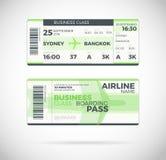 Διανυσματική απεικόνιση εισιτηρίων περασμάτων τροφής αερογραμμών Στοκ Εικόνα