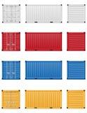 Διανυσματική απεικόνιση εμπορευματοκιβωτίων φορτίου Στοκ φωτογραφίες με δικαίωμα ελεύθερης χρήσης