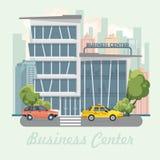 Διανυσματική απεικόνιση εμπορικών κέντρων στο επίπεδο σχέδιο landscape urban Στοκ Φωτογραφία