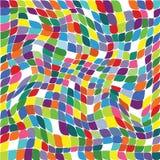 Διανυσματική απεικόνιση ενός άνευ ραφής σχεδίου επανάληψης του χρωματισμένου s Στοκ φωτογραφίες με δικαίωμα ελεύθερης χρήσης