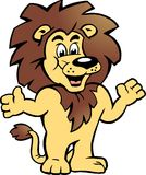 Διανυσματική απεικόνιση ενός ευτυχούς υπερήφανου βασιλιά λιονταριών Στοκ Εικόνα