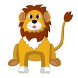 Διανυσματική απεικόνιση ενός λιονταριού κινούμενων σχεδίων συνεδρίασης Στοκ Εικόνες