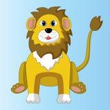 Διανυσματική απεικόνιση ενός λιονταριού κινούμενων σχεδίων συνεδρίασης Στοκ φωτογραφίες με δικαίωμα ελεύθερης χρήσης