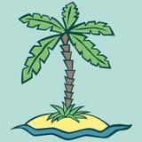 Διανυσματική απεικόνιση ενός νησιού Ελεύθερη απεικόνιση δικαιώματος