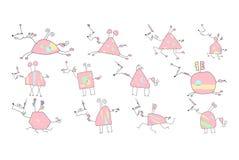 Διανυσματική απεικόνιση ενός συρμένου χέρι μονοκέρου Doodle Στοκ φωτογραφία με δικαίωμα ελεύθερης χρήσης