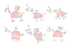 Διανυσματική απεικόνιση ενός συρμένου χέρι μονοκέρου Doodle Στοκ εικόνα με δικαίωμα ελεύθερης χρήσης