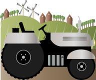 Διανυσματική απεικόνιση ενός τρακτέρ στο δρόμο ελεύθερη απεικόνιση δικαιώματος