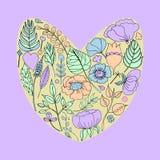 Διανυσματική απεικόνιση ενός floral πλαισίου με μορφή μιας καρδιάς στοκ φωτογραφία με δικαίωμα ελεύθερης χρήσης