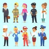 Διανυσματική απεικόνιση επαγγελμάτων ανθρώπων διαφορετική Ανθρώπινος τρόπος ζωής εργασίας ποικιλομορφίας ομαδικής εργασίας επιτυχ απεικόνιση αποθεμάτων