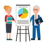 Διανυσματική απεικόνιση επιχειρησιακού φόρουμ ανδρών και γυναικών διανυσματική απεικόνιση