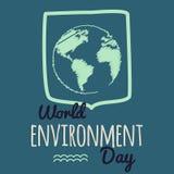 Διανυσματική απεικόνιση ημέρας παγκόσμιου περιβάλλοντος Στοκ Φωτογραφίες