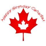 Διανυσματική απεικόνιση ημέρας του Καναδά Ευτυχές σχέδιο πρόσκλησης διακοπών ημέρας του Καναδά Κόκκινο φύλλο που απομονώνεται σε  Στοκ Φωτογραφία
