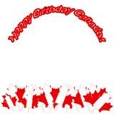 Διανυσματική απεικόνιση ημέρας του Καναδά Ευτυχές σχέδιο πρόσκλησης διακοπών ημέρας του Καναδά Κόκκινο φύλλο που απομονώνεται σε  Στοκ φωτογραφία με δικαίωμα ελεύθερης χρήσης