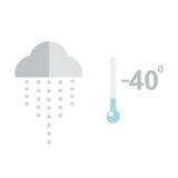 Διανυσματική απεικόνιση θερμοκρασίας θερμομέτρων κρύα διανυσματική απεικόνιση