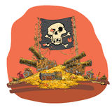 Διανυσματική απεικόνιση θησαυρών πειρατών Στοκ Εικόνες