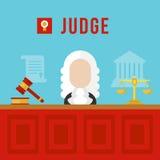 Διανυσματική απεικόνιση δικαστών Στοκ Εικόνες