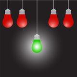 Διανυσματική απεικόνιση ιδέας βολβών φωτισμού Στοκ Εικόνες