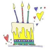 Διανυσματική απεικόνιση κέικ γενεθλίων διανυσματική απεικόνιση