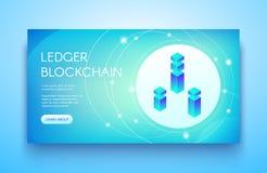 Διανυσματική απεικόνιση καθολικών blockchain ICO ελεύθερη απεικόνιση δικαιώματος