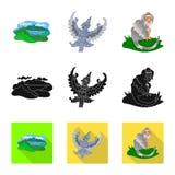 Διανυσματική απεικόνιση και εικονίδιο ταξιδιού Σύνολο και παραδοσιακή διανυσματική απεικόνιση αποθεμάτων απεικόνιση αποθεμάτων