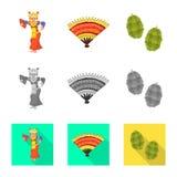 Διανυσματική απεικόνιση και λογότυπο ταξιδιού Σύνολο και παραδοσιακή διανυσματική απεικόνιση αποθεμάτων απεικόνιση αποθεμάτων
