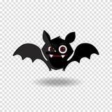 Διανυσματική απεικόνιση κινούμενων σχεδίων του χαριτωμένου φιλικού μαύρου χαρακτήρα ροπάλων στο διαφανές υπόβαθρο διανυσματική απεικόνιση
