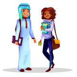 Διανυσματική απεικόνιση κολλεγίου ή φοιτητών πανεπιστημίου διανυσματική απεικόνιση