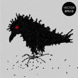 Διανυσματική απεικόνιση κοράκων Χαρακτήρας κορακιών Στοκ Φωτογραφίες