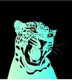 Διανυσματική απεικόνιση κλίσης νέου μπλε μιας λεοπάρδαλης Στοκ Εικόνα