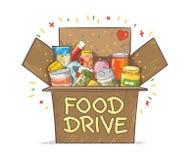 Διανυσματική απεικόνιση λογότυπων μετακίνησης φιλανθρωπίας Drive τροφίμων στοκ εικόνα με δικαίωμα ελεύθερης χρήσης