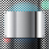 Διανυσματική απεικόνιση μεταλλικών πιάτων διανυσματική απεικόνιση