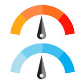 Διανυσματική απεικόνιση μετρητών θερμοκρασίας Στοκ εικόνα με δικαίωμα ελεύθερης χρήσης