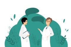 Διανυσματική απεικόνιση με δύο γιατρούς στοκ φωτογραφία με δικαίωμα ελεύθερης χρήσης