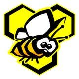 Διανυσματική απεικόνιση μελισσών Στοκ φωτογραφία με δικαίωμα ελεύθερης χρήσης