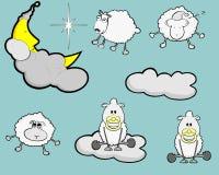 Διανυσματική απεικόνιση με τα πουλιά και τα λουλούδια Στοκ εικόνα με δικαίωμα ελεύθερης χρήσης
