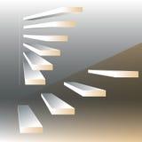 Διανυσματική απεικόνιση με τα σκαλοπάτια στο υπόβαθρο drey Στοκ Εικόνα
