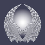 Διανυσματική απεικόνιση με την αφηρημένη φωτεινή μελλοντική δομή τεχνολογίας Στοκ Φωτογραφία