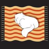 Διανυσματική απεικόνιση με τη γάτα ύπνου Στοκ Εικόνα