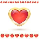 Διανυσματική απεικόνιση με τη διαφανή κόκκινη καρδιά Στοκ Φωτογραφίες