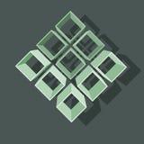 Διανυσματική απεικόνιση με τη δομή σε γκρίζο Στοκ Εικόνες